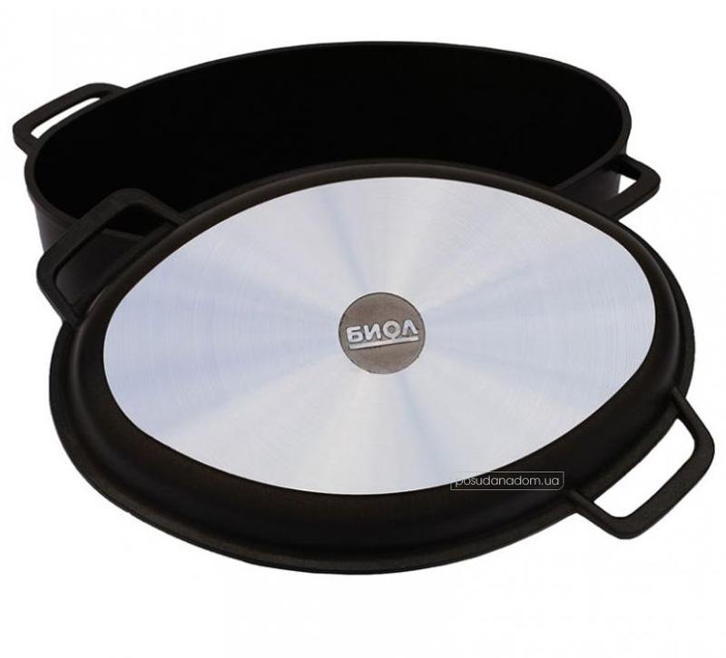Гусятница Биол Г301П + крышка-сковорода 2.5 л в ассортименте