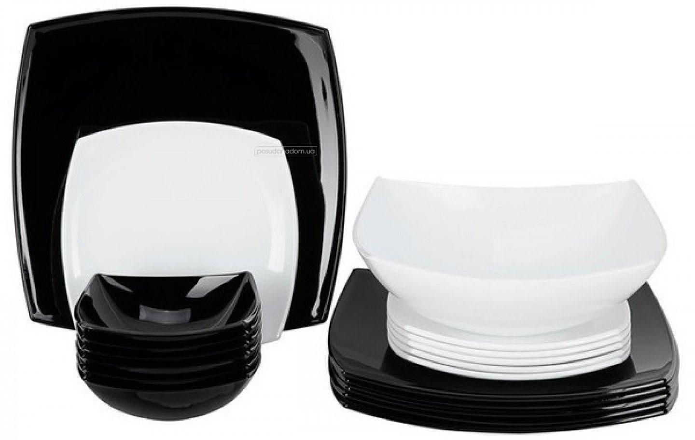 Столовый сервиз Luminarc c5239 Quadrato Black/White 19 пред.