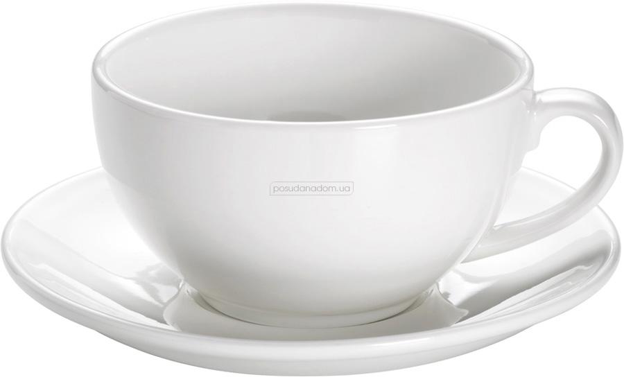 Чашка для капучино с блюдцем Maxwell & Williams AA2744 WHITE BASICS ROUND 310 мл