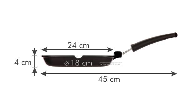 Сковорода-гриль Tescoma 601254 PREMIUM 34 см, недорого