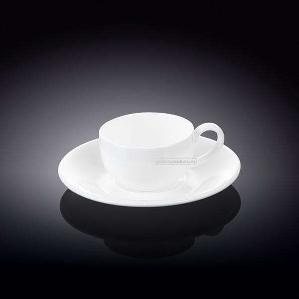 Чашка кофейная с блюдцем Wilmax WL-993002 Olivia 100 мл, каталог