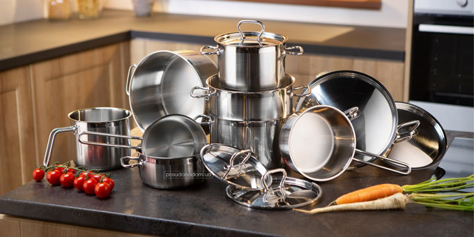 Набор посуды Tescoma 725013 HOME PROFI 13 пред., каталог