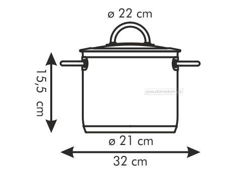 Кастрюля Tescoma 779022 VISION 5.5 л, каталог