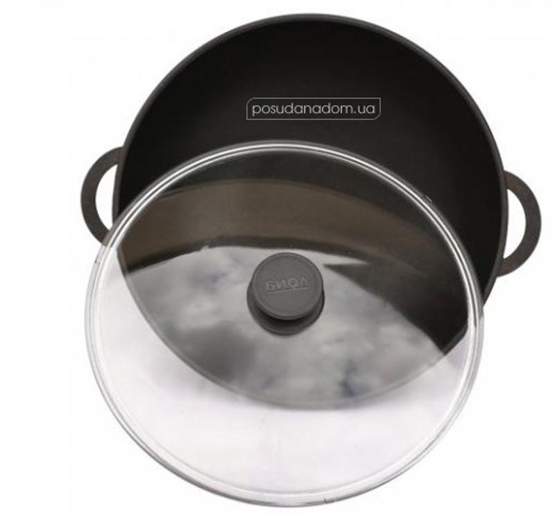 Сковорода Wok с крышкой Биол 2803ПС 28 см, цвет