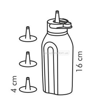 Дозировочная бутылка с насадками Tescoma 420728 PRESTO в ассортименте